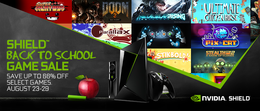 SHIELD Back to School Sale - Save up to 66% off select games from August 23-29