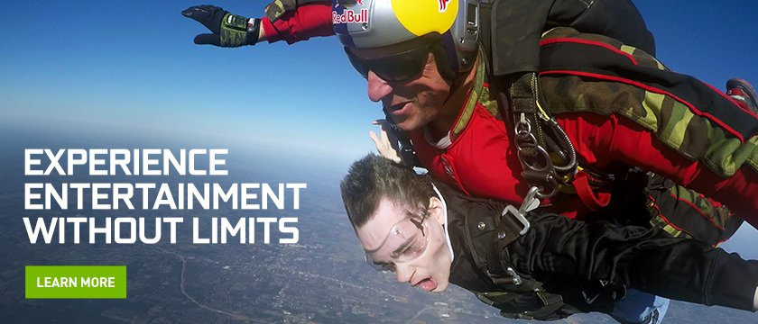 NVIDIA fan won Skydiving trip and SHIELD/GeForce NOW prizes in Loot Crate's Mega Crate contest