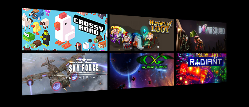 Play retro games like these on the SHIELD Android TV Box