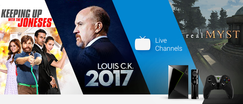 This week, we're all about the game RealMyst in the Android Store, the Live Channels app, Louis C.K: 2017 on Netflix, and Keeping Up with the Joneses, now streaming on Vudu.