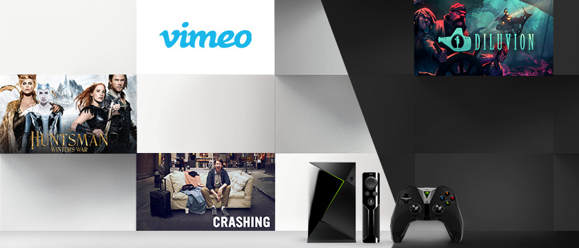 "This week, we're excited about the game, Diluvion on GeForce NOW, Vimeo with 4K content, the TV Show ""Crashing"" on HBO NOW, and ""The Huntsman: Winter's War"" for rent on Google Play and Fandango, and streaming on HBO NOW."