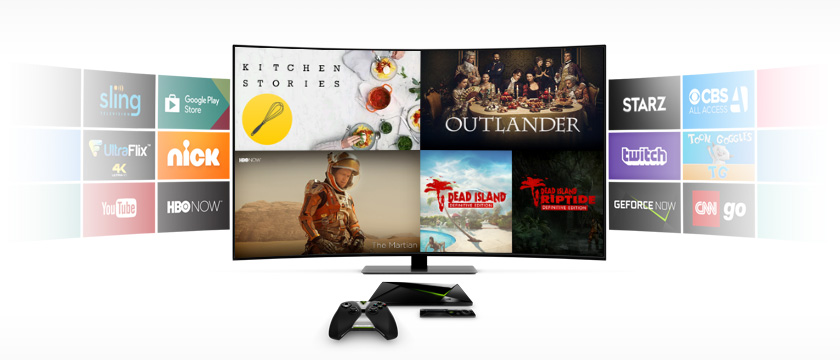 "This week we're showcasing Kitchen Stories on SHIELD Android TV and SHIELD tablet K1, Definitive Editions of Dead Island and Dead Island: Riptide now streaming on GeForce NOW, ""Outlander"" on Starz, and ""The Martian"" on HBO NOW."