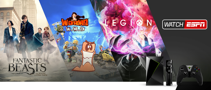 "This week, we're all about the game Worms W.M.D on GeForce NOW,  the Watch ESPN app just in time for MLB opening day, the movie ""Fantastic Beasts and Where to Find Them"" streaming on Amazon Video and Vudu, and the TV show ""Legion"" streaming on Hulu."