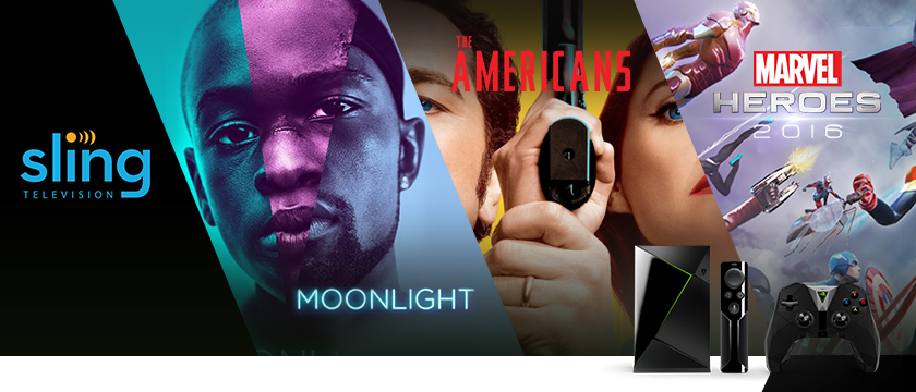 "This week, we're excited about the game, Marvel Heroes 2016 on GeForce NOW, Sling TV which now boasts more live, local sports than ever, the Academy Award winning ""Moonlight"" streaming on Amazon Video, Google Play Movies & TV, and Vudu, and ""The Americans"" on FXNOW."
