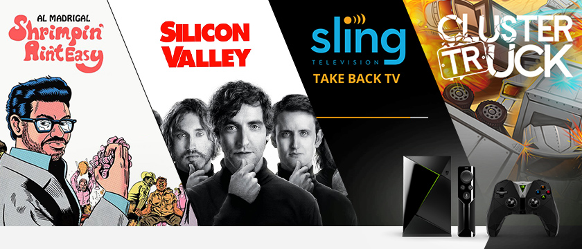 "This week, we're all about the game Clustertruck in the Android Store, the Sling TV app, just in time for the NBA and NHL, ""Silicon Valley"" on HBO, and ""Al Madrigal: Shrimpin' Ain't Easy"" on SHOWTIME."