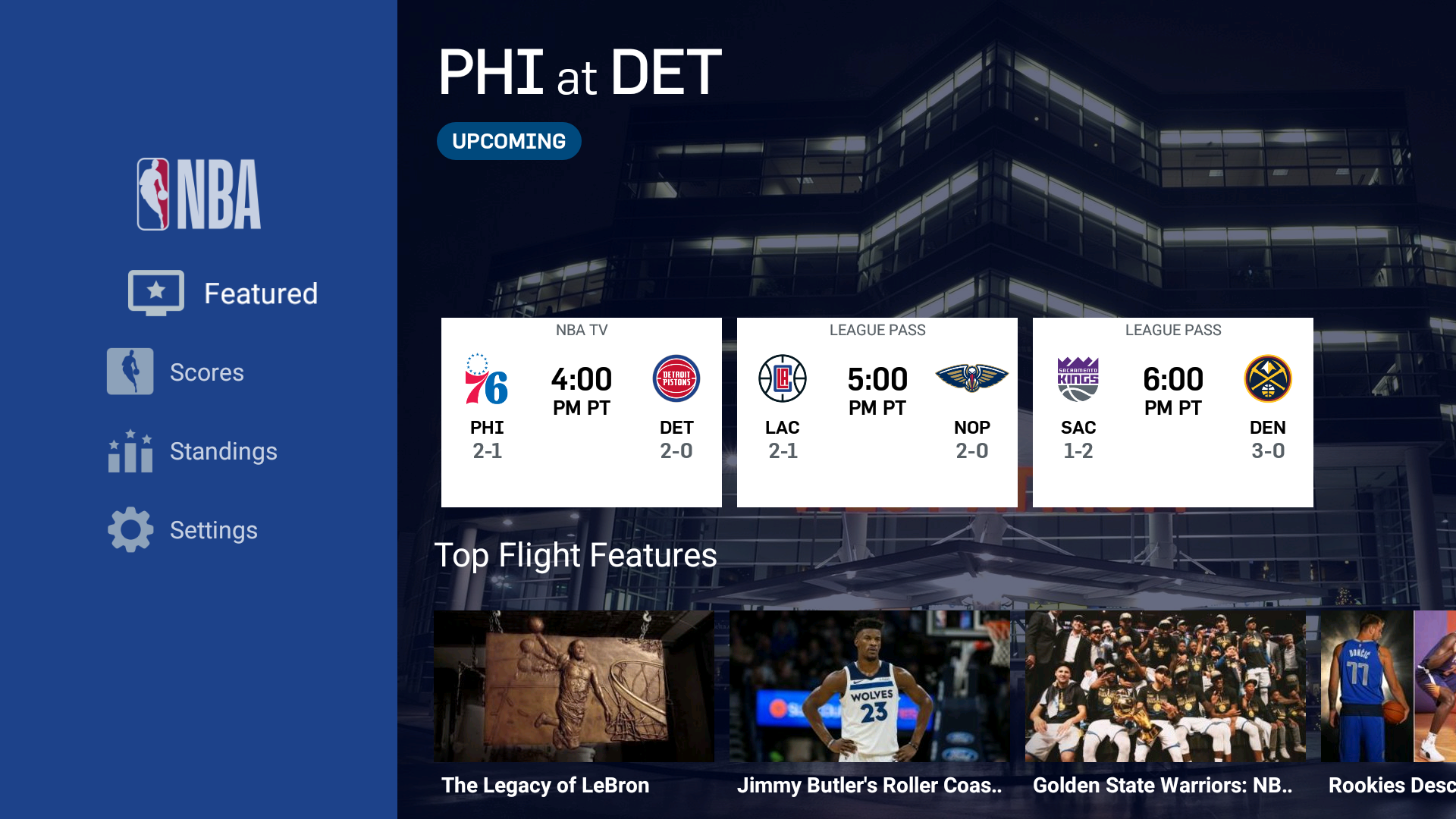 Stream NBA Games With the official NBA app