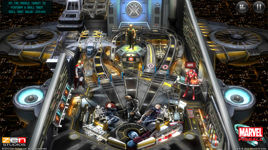 Play Marvel Pinball on SHIELD