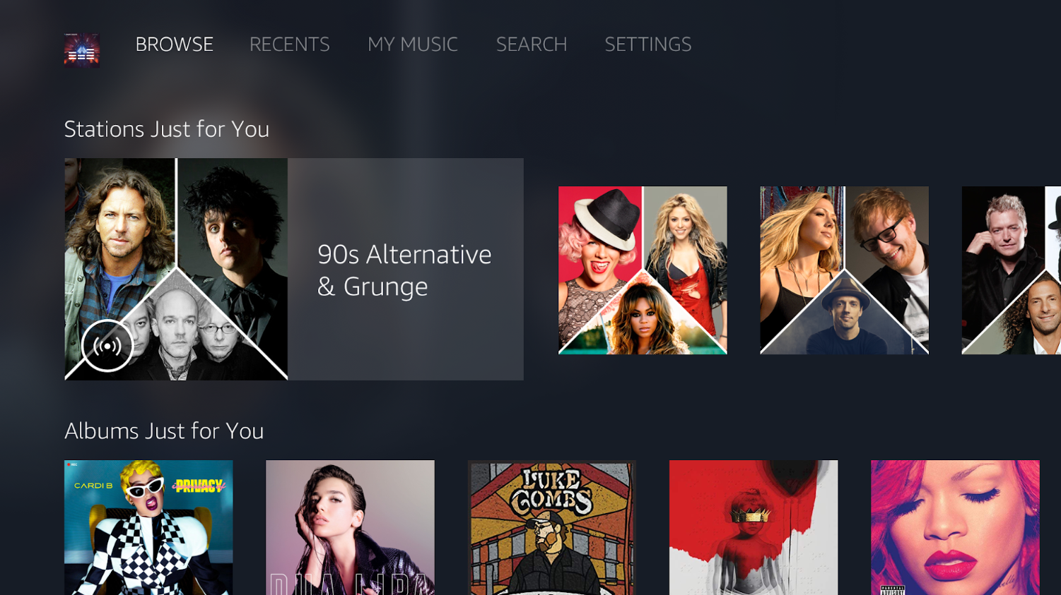 Amazon Music on SHIELD