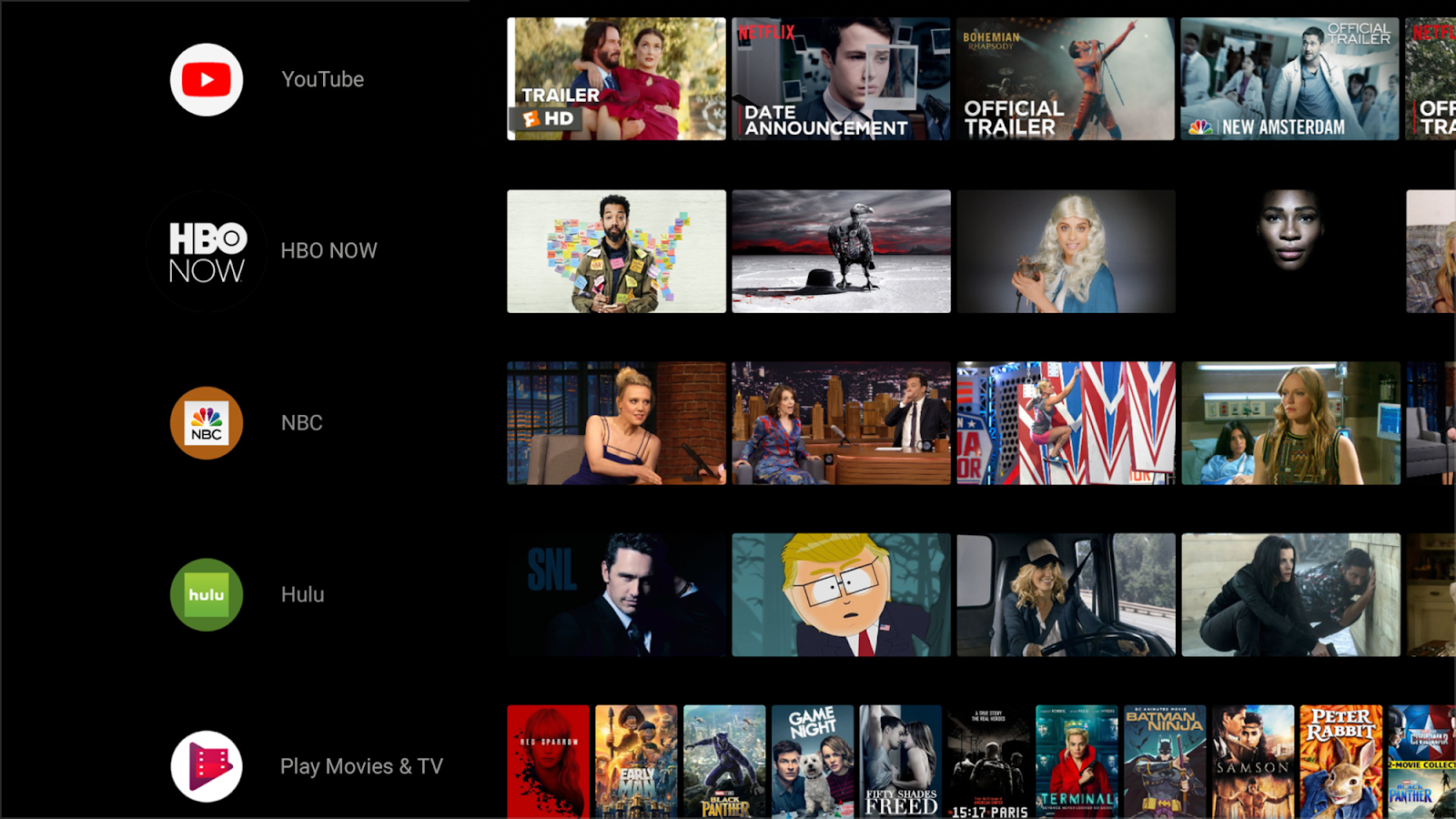 See channels from your favorite apps