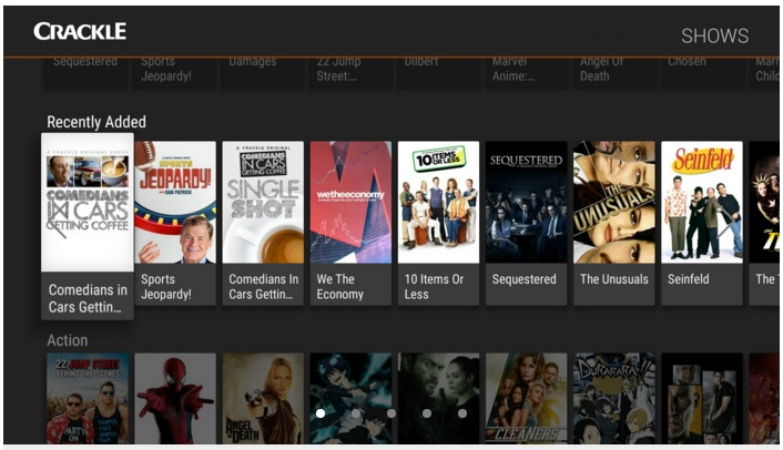 Enjoy movies and TV shows on Crackle