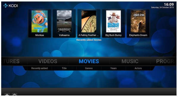 Stream music with Kodi media player