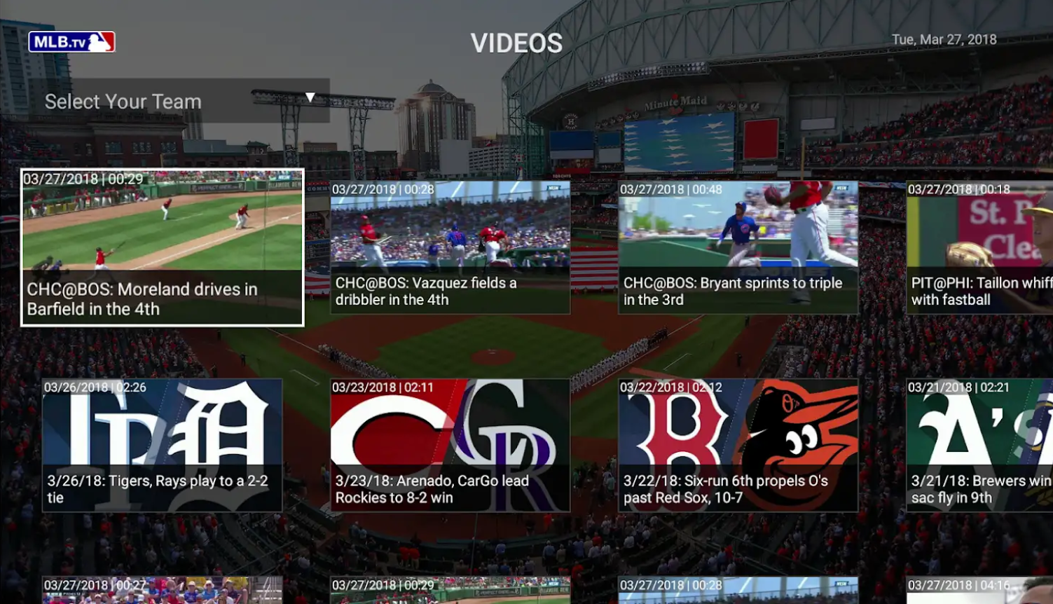 Watch live or on demand with MLB.tv