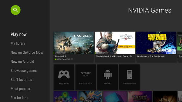 The Play now row within the NVIDIA Games app visually tracks all the games you've played recently on your SHIELD so you can return to them quickly.
