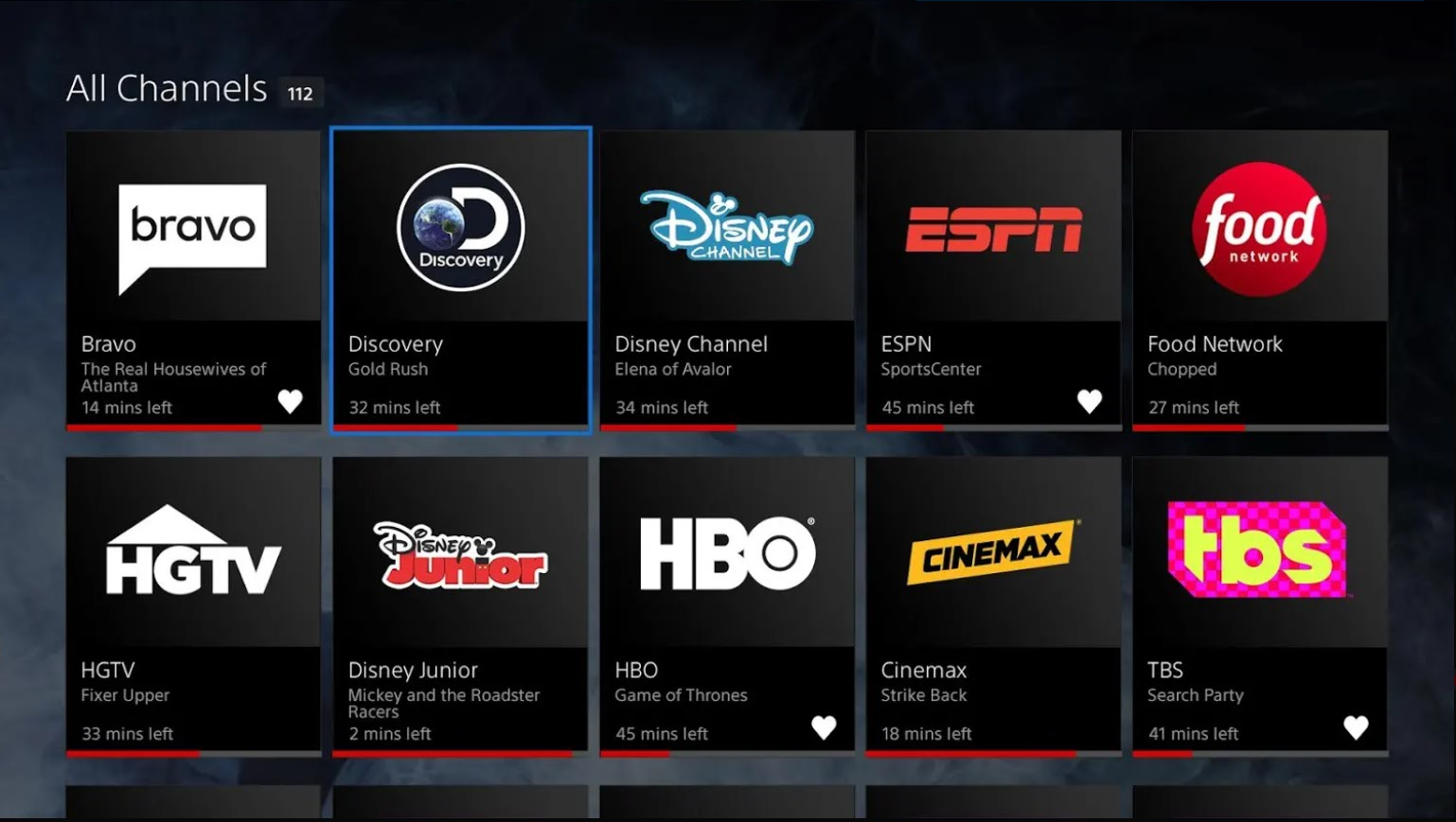 Stream live TV with PlayStation Vue