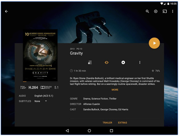Plex App for Android TV helps you organize and stream media content