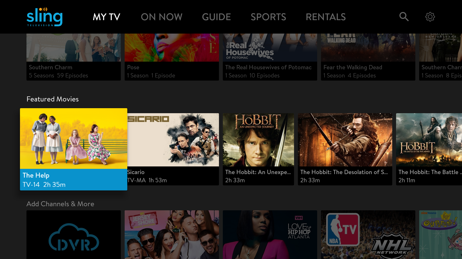 Sling TV lets you personalize the channels you subscribe to.