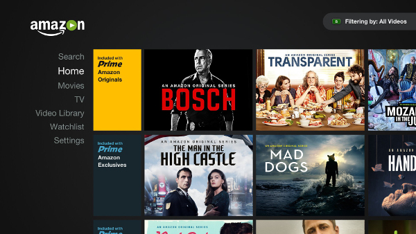 Amazon Video on NVIDIA SHIELD