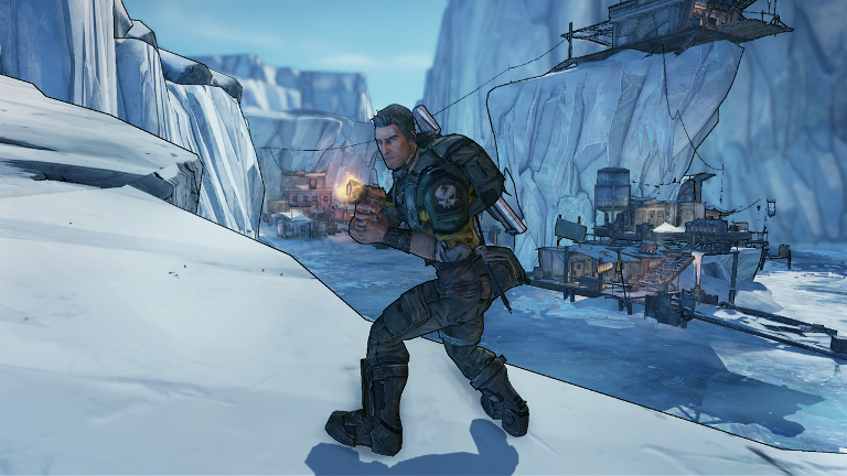 Borderlands 2 - Axton the Commando fires his 360 degree gun turret