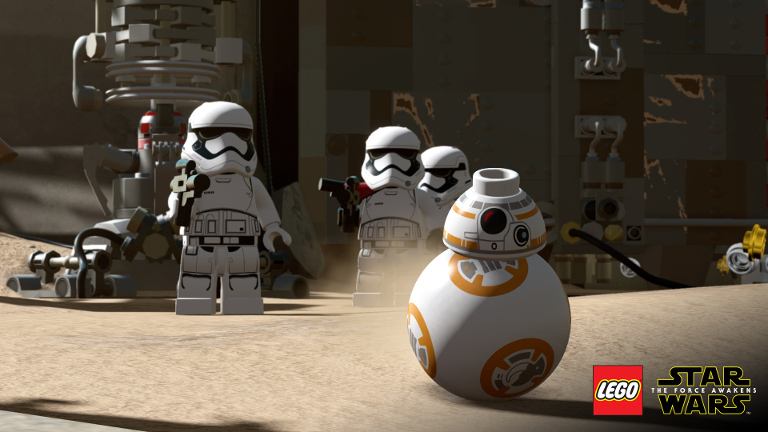 LEGO Star Wars: The Force Awakens - BB-8 escapes first order stormtroopers