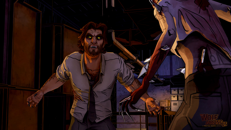 The Wolf Among Us - Bigby Wolf fights creature
