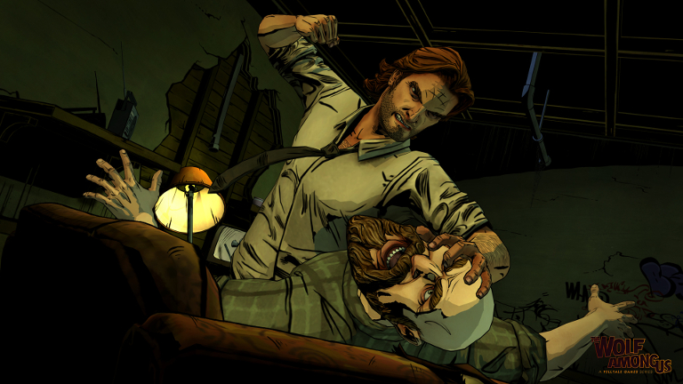 The Wolf Among Us - Bigby Wolf fights woodsman