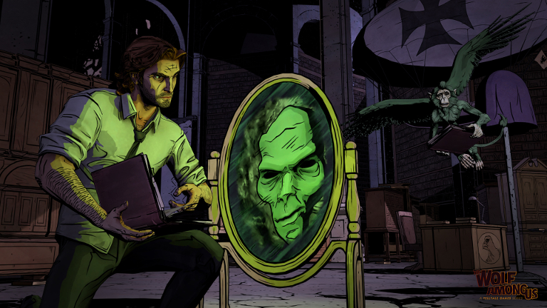 The Wolf Among Us - Bigby Wolf questions spirit in mirror