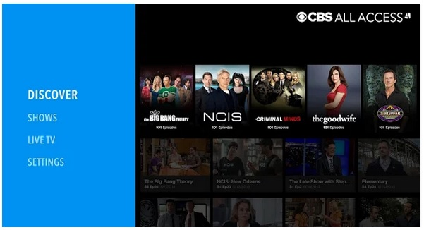 CBS All Access on SHIELD Android TV