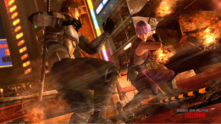 Dead or Alive 5: Last Round – Hayate fights Ayane