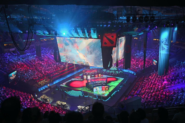 Jumbotron on the DOTA 2 TI Stage