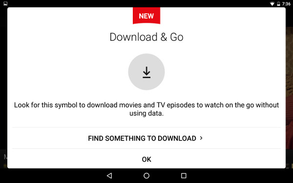 Download & Go lets you watch content offline