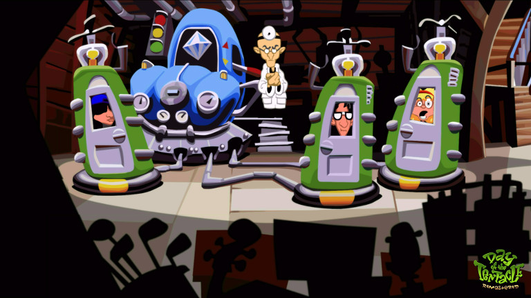 Day of the Tentacle Remastered - Dr. Fred in his laboratory