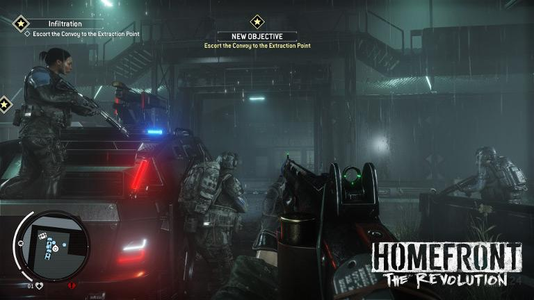 Homefront: The Revolution – Escort convoy to extraction point