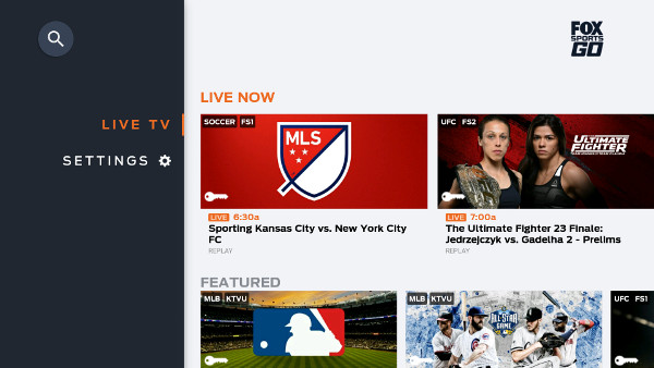 Fox Sports Go on SHIELD Android TV