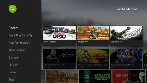 GeForce NOW on SHIELD Android TV