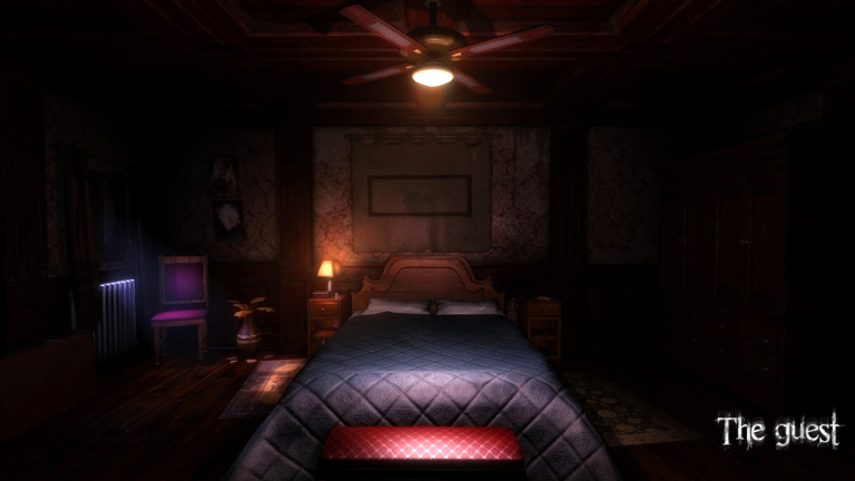 You awake in the middle of the night in a strange room.