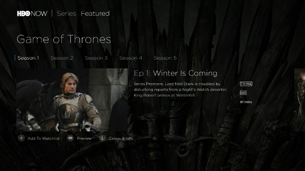 HBO NOW for SHIELD Android TV