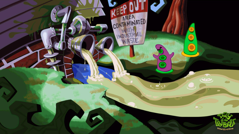 Day of the Tentacle Remastered - Industrial waste contamination