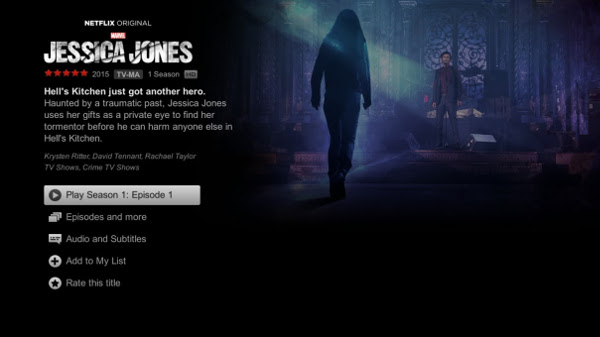 Stream Jessica Jones with NetFlix on SHIELD Android TV