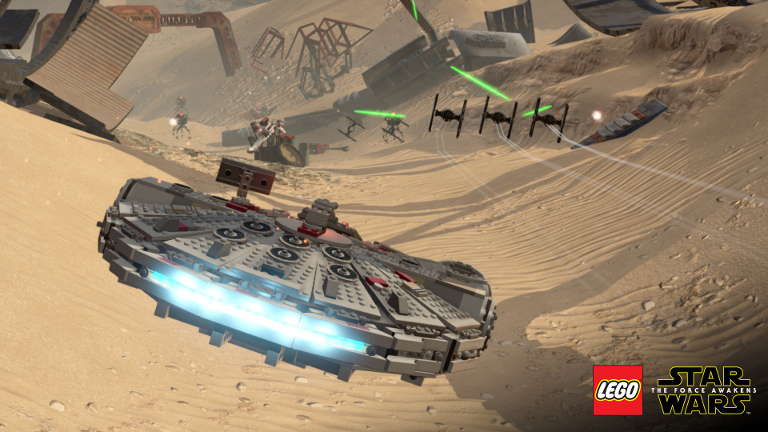 LEGO Star Wars: The Force Awakens - Millennium Falcon attacks TIE fighters