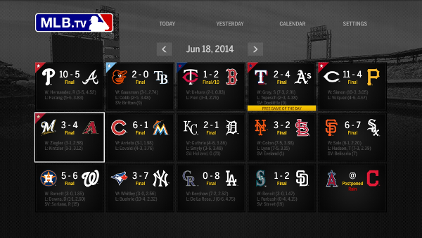 The MLB.tv app is great for baseball fans