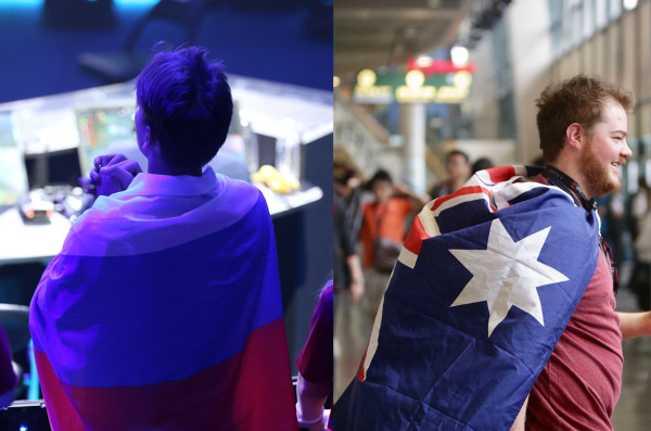 Nations on Display at the DOTA 2 TI 2017 Grand Finals