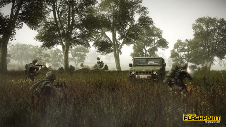 Operation Flashpoint Soldiers in Firefight