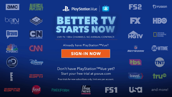 PlayStation Vue for Android TV