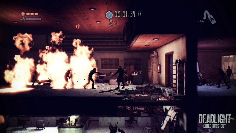Deadlight: Director's Cut  - Randall Wallace attacks zombies with fire