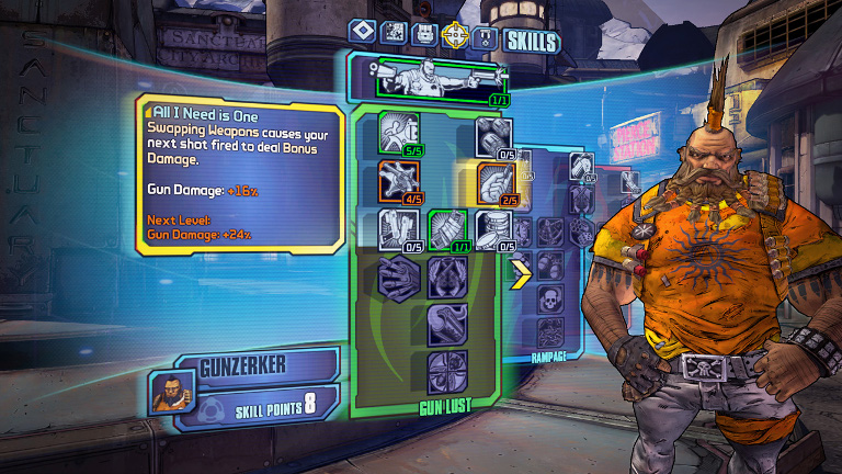 Borderlands 2 - Salvador is a Gunzerker
