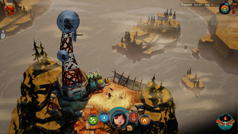 The Flame in the Flood - Scout on island with radio tower