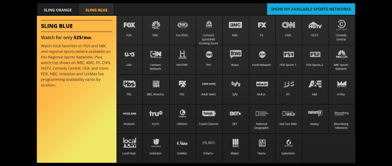Sling TV offers Sling Blue package for the big summer 2016 sporting event