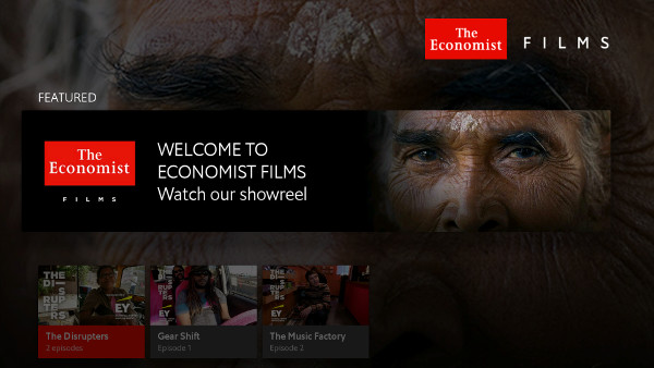 The Economist Films app is a short series of documentaries