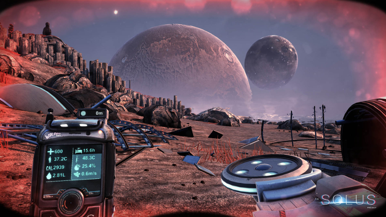 Explore and survive a deadly alien world while searching for mankind's new home planet in The Solus Project survival game.