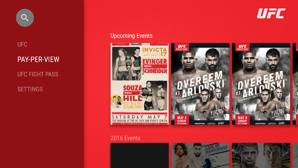 Check out the UFC app on SHIELD